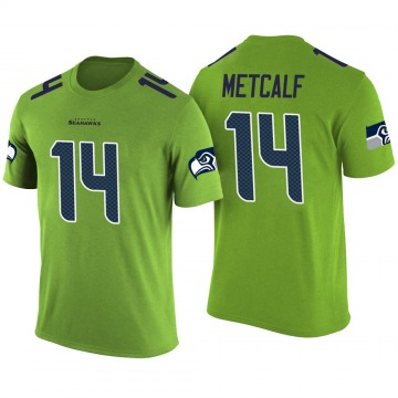 Men's DK Metcalf Seattle Seahawks Green Color Rush Legend T-Shirt