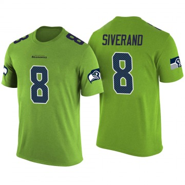 Men's Kemah Siverand Seattle Seahawks Green Color Rush Legend T-Shirt