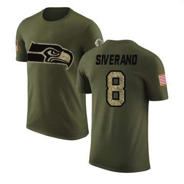 Men's Kemah Siverand Seattle Seahawks Olive Salute to Service Legend T-Shirt