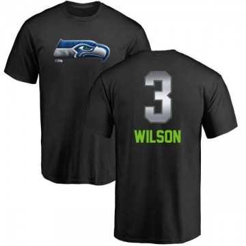 Men's Russell Wilson Seattle Seahawks Midnight Mascot T-Shirt - Black