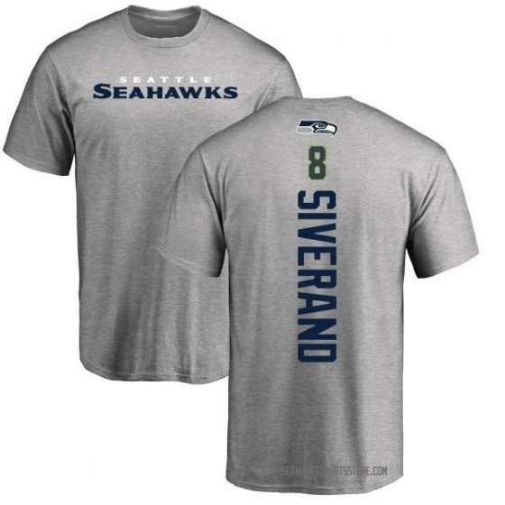 Youth Kemah Siverand Seattle Seahawks Backer T-Shirt - Ash