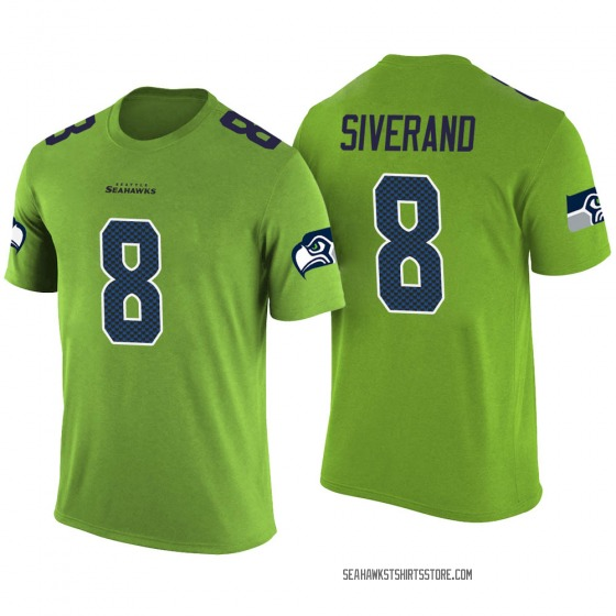 Youth Kemah Siverand Seattle Seahawks Green Color Rush Legend T-Shirt