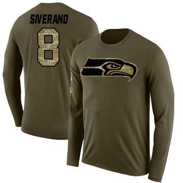 Youth Kemah Siverand Seattle Seahawks Salute to Service Sideline Olive Legend Long Sleeve T-Shirt